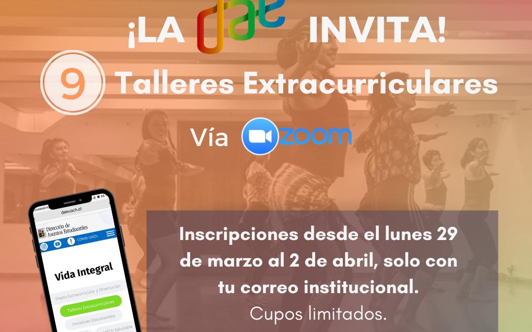 Cupos limitados: ¡Inscríbete en los talleres extracurriculares online!