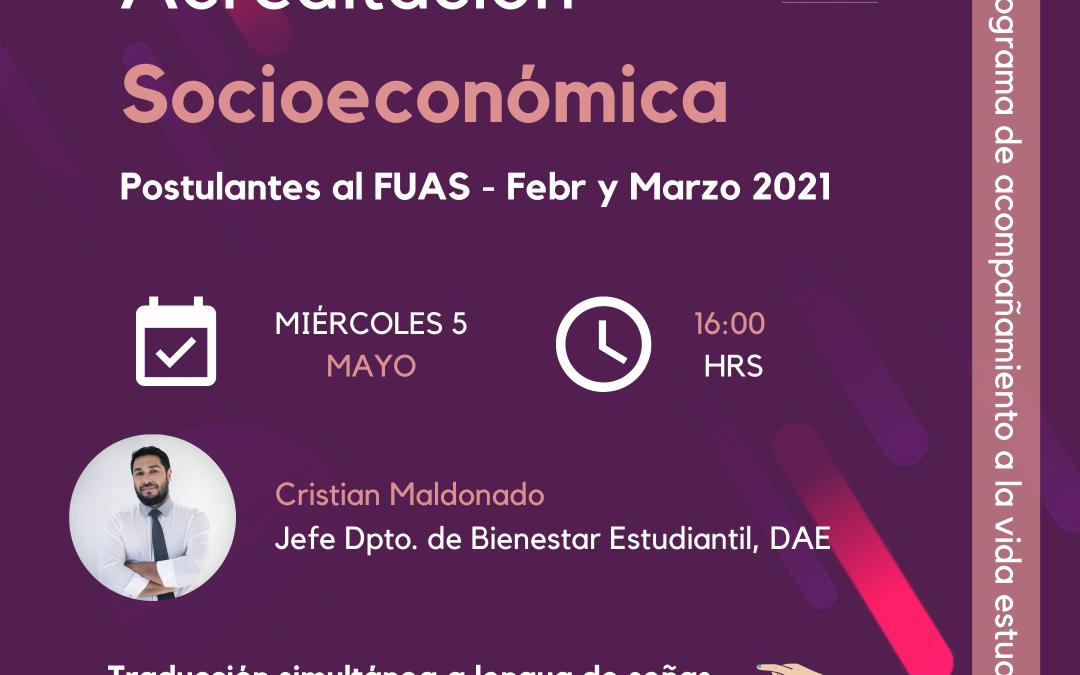 Si postulaste al FUAS entre febrero y marzo: Participa en la charla de Acreditación Socioeconómica