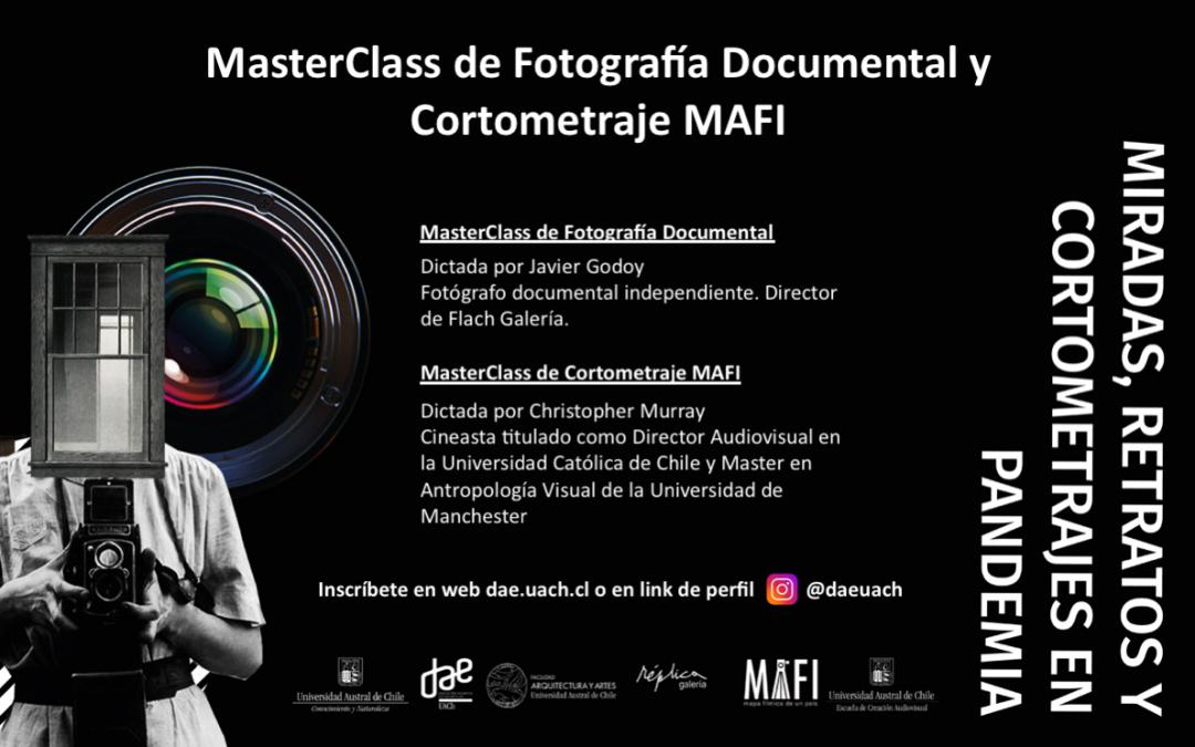 Inscripción a MasterClass de Fotografía y Cortometraje