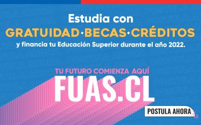FUAS 2022: Inicia postulación a Beneficios Estudiantiles para la educación superior