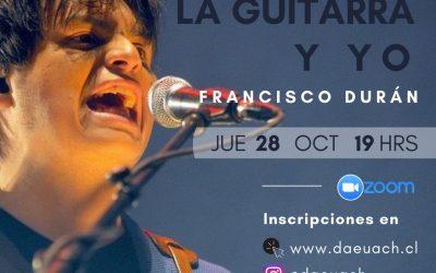 Guitarrista de Los Bunkers Francisco Durán participará en ciclo de charlas «La Guitarra y Yo»